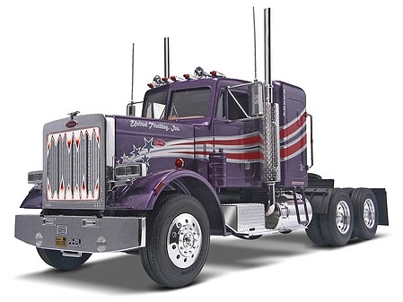 plastic models,plastic model car,Peterbilt 359 Conventional -- Plastic Model Truck Kit -- 1/25 Scale -- #851506