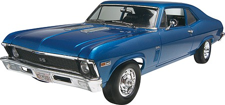 plastic model cars,plastic model car,1969 Chevy Nova SS -- Plastic Model Car Kit -- 1/25 Scale -- #852098
