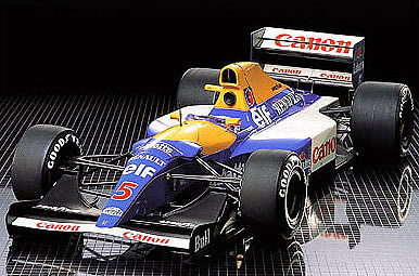 plastic model cars,plastic model car,Williams FW14B Renault -- Plastic Model Formula 1 Car -- 1/12 Scale -- #12029