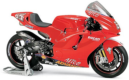motorcycle plastic models,plastic models,Ducati Desmosedici Bike -- Plastic Model Motorcycle Kit -- 1/12 Scale -- #14101