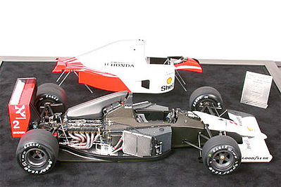 McLaren MP4/6 Honda Racecar GP F1 Formula -- Plastic Model Car Kit -- 1/12 Scale -- #89721